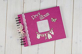 Papiernictvo - Detský fotoalbum pre dievčatko - 8150649_