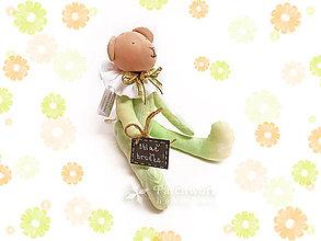 Hračky - Textilná hračka - Macko zelený - 8150187_