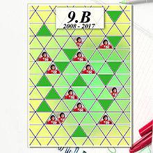 Papiernictvo - Absolventská linajková podložka - trojuholníky (čistá) - 8151888_