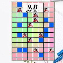 Papiernictvo - Absolventská linajková podložka -štvorčeky (čistá) - 8152653_
