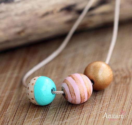 d544122e2 Drevený korálkový náhrdelník - Playful pastel / AnitArt - SAShE.sk ...