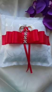 Úžitkový textil - svadobný vankúšik pod obrúčky - 8155860_