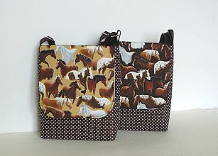 Detské tašky - Detská taška kone (Bledý podklad kone) - 8153876_