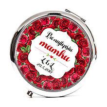 Zrkadielka - Zrkadielko pre mamku - ruže - 8153664_