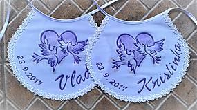 Darčeky pre svadobčanov - Svadobné podbradníčky - 8155798_