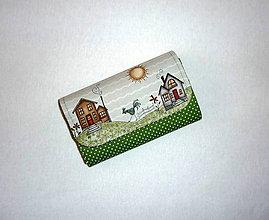 Peňaženky - Peňaženka - Na vidieku - zelená - 17 - 8153135_