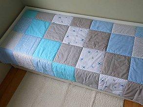 Úžitkový textil - Prehoz Šedo-Modrý 200x120 - 8158191_