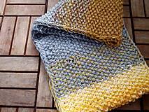 Rukavice - Samé pásiky sivo-žlté - 8158489_