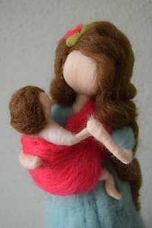 Dekorácie - Maminka s dieťatkom - 8156295_