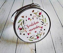 Darčeky pre svadobčanov - Svadobné zrkadielko - 8159177_