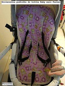 Textil - Podložka do kočíka BABY MERC FASTER STYLE 100% merino sovičková na mieru - 8156569_