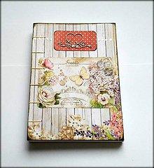 Papiernictvo - Ručne šitý svadobný plánovač/zápisník/denník/diár/notes/sketchbook ,,Spring dream\