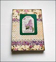 Papiernictvo - Ručne šitý zápisník/denník/diár/notes/sketchbook ,,Orgovánový\