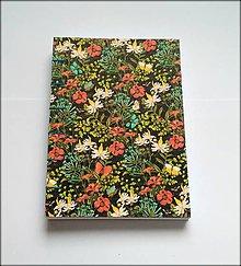 Papiernictvo - Ručne šitý zápisník/denník/diár/notes/sketchbook ,,Jarný deň