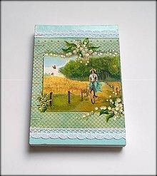 Papiernictvo - Zápisník/ Svadobný plánovač Konvalinky (A5) - 8157623_