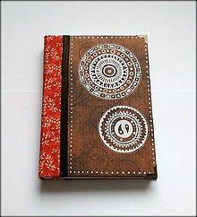 Papiernictvo - Ručne šitý Kreslený diár/zápisník/denník/notes  Folk - 8157630_