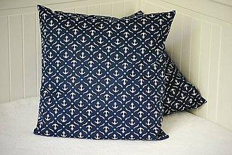 Úžitkový textil - Dekoratívny námornícky vankúš Kotva - 8157431_
