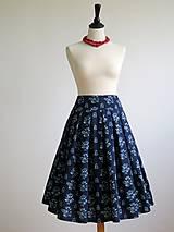 Sukne - sukňa z modrotlače - 8159210_