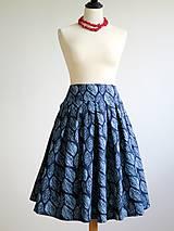 Sukne - sukňa z modrotlače - 8159226_