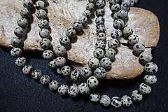 Minerály - Jaspis dalmatinec sivý 10mm - 8158704_