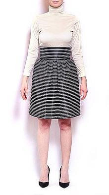 Sukne - Pruhovaná sukňa - 8161840_