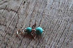 Iné šperky - prívesok anjelik - tyrkenit - 8161524_