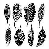 - Šablóna The Crafters Workshop 15,2x15,2cm - Fancy Feathers - 8160838_