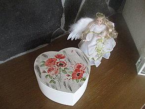 Krabičky - Šperkovnica Srdce - 8159702_