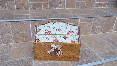 Krabičky - Ružičkový stojan na listy - 8161232_