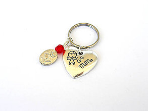 Kľúčenky - jednoducho mama - klucenka - den matiek - 8159680_