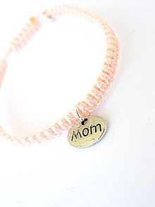Náramky - pink mama - shamballa - den matiek - 8159708_