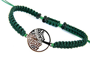 Náramky - strom zivota - zeleny - shamballa - 8159884_