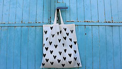 Nákupné tašky - srdcovka - 8160101_