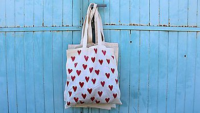 Nákupné tašky - srdcovka - 8160121_