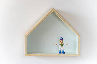 Nábytok - Drevený domček zelený - 8161659_
