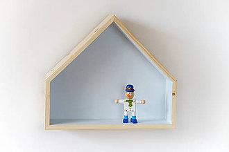 Nábytok - Drevený domček modrý - 8161661_