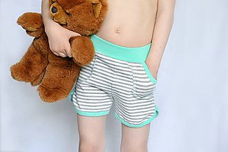 Detské oblečenie - Letné kraťasy detské Strips & Mint - 8161961_