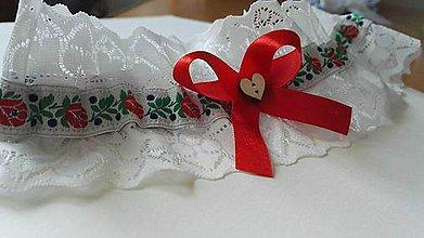 Bielizeň/Plavky - folklórny podväzok - 8160824_