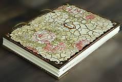 Papiernictvo - Luxusný zápisník,kronika 1 shabby chic romantic pastelový/Posledný kus - 8159910_