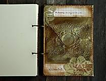 Papiernictvo - Luxusný zápisník,kronika 1 shabby chic romantic pastelový/Posledný kus - 8159911_