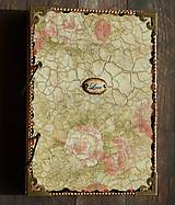 Papiernictvo - Luxusný zápisník,kronika 1 shabby chic romantic pastelový/Posledný kus - 8159913_