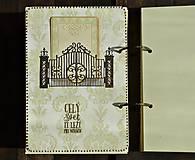 Papiernictvo - Luxusný zápisník,kronika 1 shabby chic romantic pastelový/Posledný kus - 8159914_