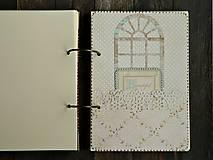 Papiernictvo - Luxusný zápisník,kronika 1 shabby chic romantic pastelový/Posledný kus - 8159915_