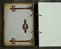 Papiernictvo - Luxusný zápisník,kronika 1 shabby chic romantic pastelový/Posledný kus - 8159916_