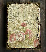 Papiernictvo - Luxusný zápisník,kronika 1 shabby chic romantic pastelový/Posledný kus - 8159921_