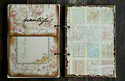 Papiernictvo - Luxusný zápisník,kronika 1 shabby chic romantic pastelový/Posledný kus - 8159922_