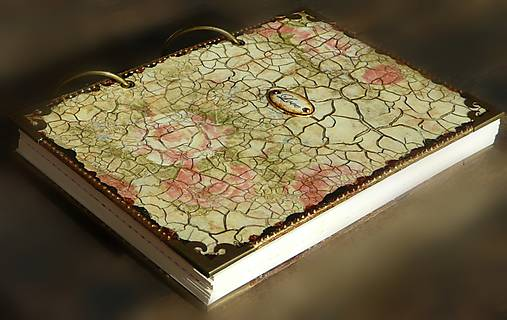 Luxusný zápisník,kronika 1 shabby chic romantic pastelový/Posledný kus