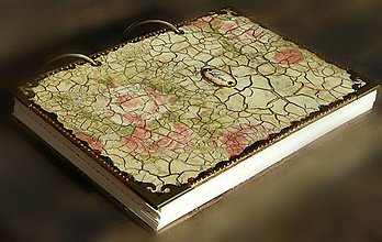 Papiernictvo - Luxusný zápisník,kronika 1 shabby chic romantic pastelový - 8159909_