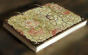 Papiernictvo - Luxusný zápisník,kronika 1 shabby chic romantic pastelový/Posledný kus - 8159909_