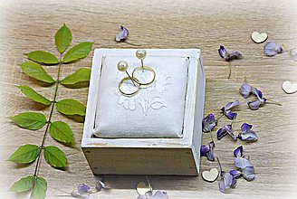 Prstene - Krabička na prstienky folk - 8160950_